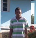 Aquilis da Costa, aged 24, five children in family where father has died. The scholarship has enabled him to study at Dili University.