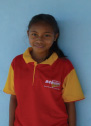 Marta Sarmento, aged 15, six children in family, studying at pre-secondary school. The scholarship has been used to pay for school fees, shoes and uniform. She plans to continue to secondary school.