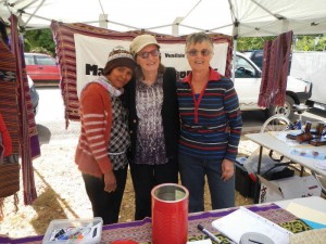 helping out at the FOV Bush Market stall