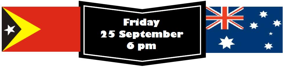 Friday 25 September