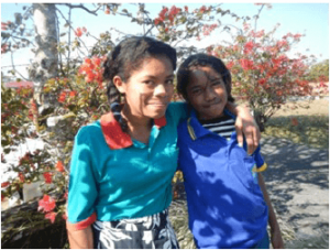 Marlina B.Ximenes pictured with her 12 year old sister