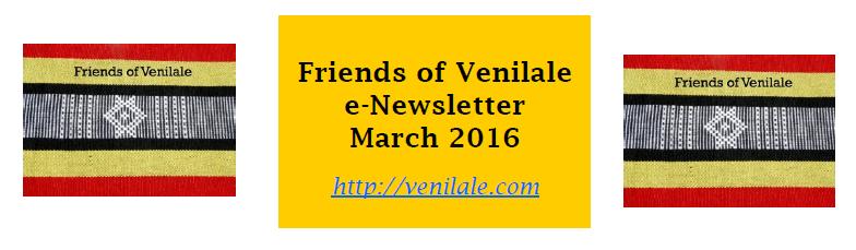 Friends of Venilale e Newsletter March 2016